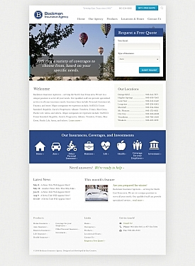 KeyCreative Blog Images for Bockmon Insurance Site Redesign