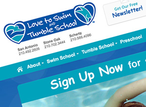 Image of Love to Swim and Tumble site