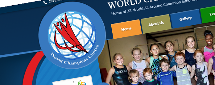 KeyCreative Blog Images for New Site for World Champions Centre, Home of Simone Biles!