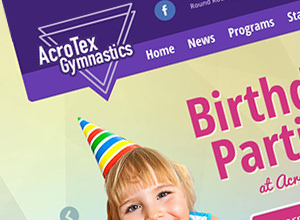 Image of AcroTex Gymnastics site