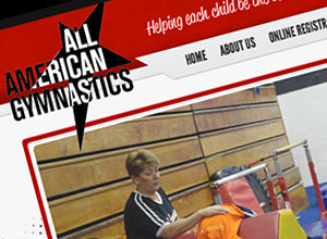 Image of All American Gymnastics site