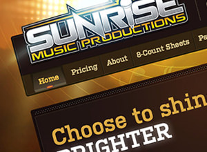 Image of Sunrise Music Productions site